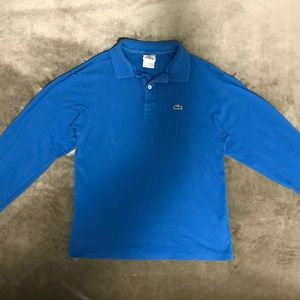 LACOSTE Blue Shirt with Collar
